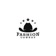 Cowboy Hat Logo Design - Silhouette Simple
