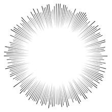 Random Circular Lines Starburs...