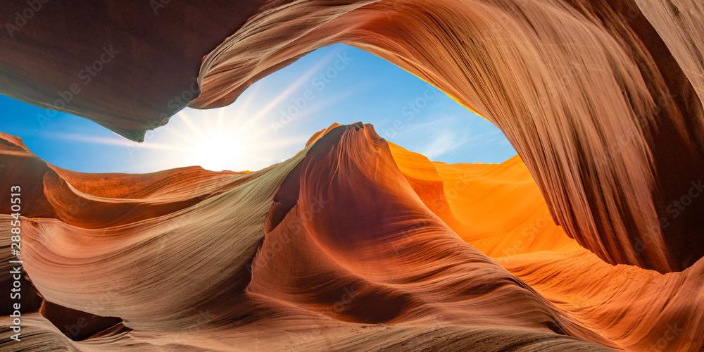 antelope canyon in arizona - background travel concept