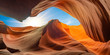 canvas print picture - antelope canyon in arizona - background travel concept