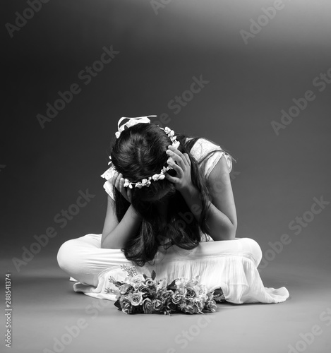 Fotomural  El pensamiento de una niña