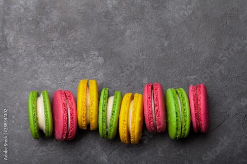 Foto auf AluDibond Macarons Cake macaron or macaroon sweets