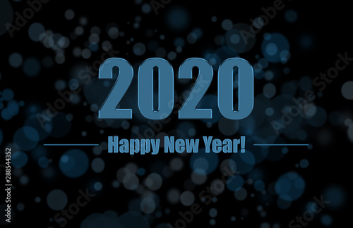 Fototapeta Nye New Year Eve 2020 Happy New Year 2020 Winter Holiday Greeting Card Design Template Party Poster Banner Or Invitation Gold