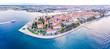 Leinwanddruck Bild Aerial view of Zadar in summer, Croatia