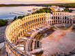 Leinwanddruck Bild Pula amphitheater in the morning, Croatia