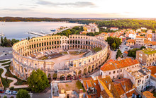 Pula Amphitheater In The Morni...