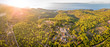 Leinwanddruck Bild Aerial view of village of Humac in Croatia