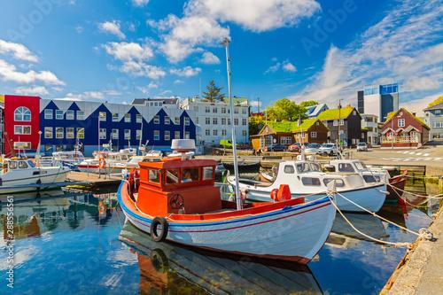 Torshavn marina - Torshavn the capital of The Faroe Islands, Denmark Fototapete