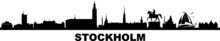 Stockholm City Skyline Vector ...