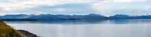 Panoramic Image Of Yellowstone Lake In Wyoming