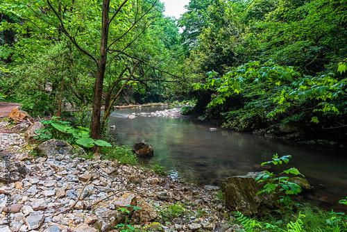Keuken foto achterwand Khaki Mine Creek and Waterfall Kocaali Sakarya Turkey