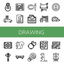 Set Of Drawing Icons Such As L...