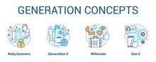 Generation Concept Icons Set. ...