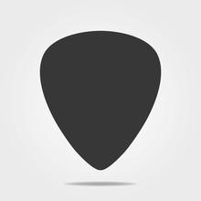 Guitar Pick Icon In Simple Des...
