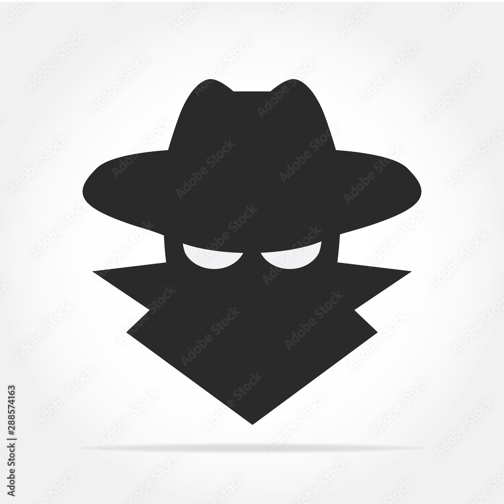 Fototapeta Spyware icon in simple design. Vector illustration