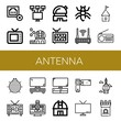 Set of antenna icons such as Connection error, Old tv, Local network, Observatory, Television, Ant, Router, Tower, Radio, Woodlouse, Tv set, Satellite, Videocamera, Tv , antenna