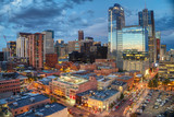 Downtown Denver Sunset Reflection