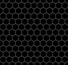 Hexagon Seamless Vector Pattern Illustration