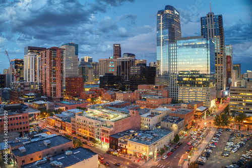 Fotomural  Downtown Denver Sunset Reflection