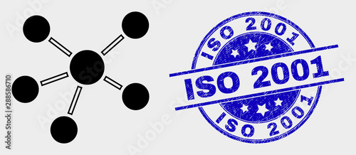 Tela  Vector relations pictogram and ISO 2001 seal stamp