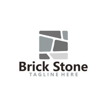 Brick Stone Logo Icon Vector