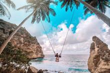 Beautiful Girl On Swing Coconu...