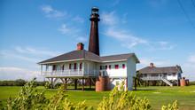 Bolivar Lighthouse In Bolivar Island Texas