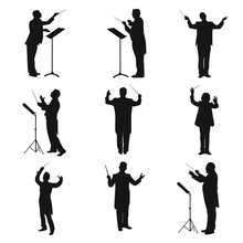 Music Conductor Silhouettes
