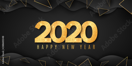 Fotografía  Abstract banner for Happy new year 2020
