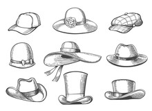 Hats Sketch Graphics