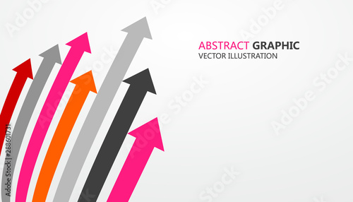 Sense of perspective arrows, growth meaning. Wallpaper Mural