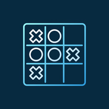 Noughts And Crosses Vector Col...