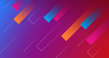 Dynamic Geometric Abstract Background Design. Colorful Rectangle Shape With Trendy Gradient Color Vector Illustration