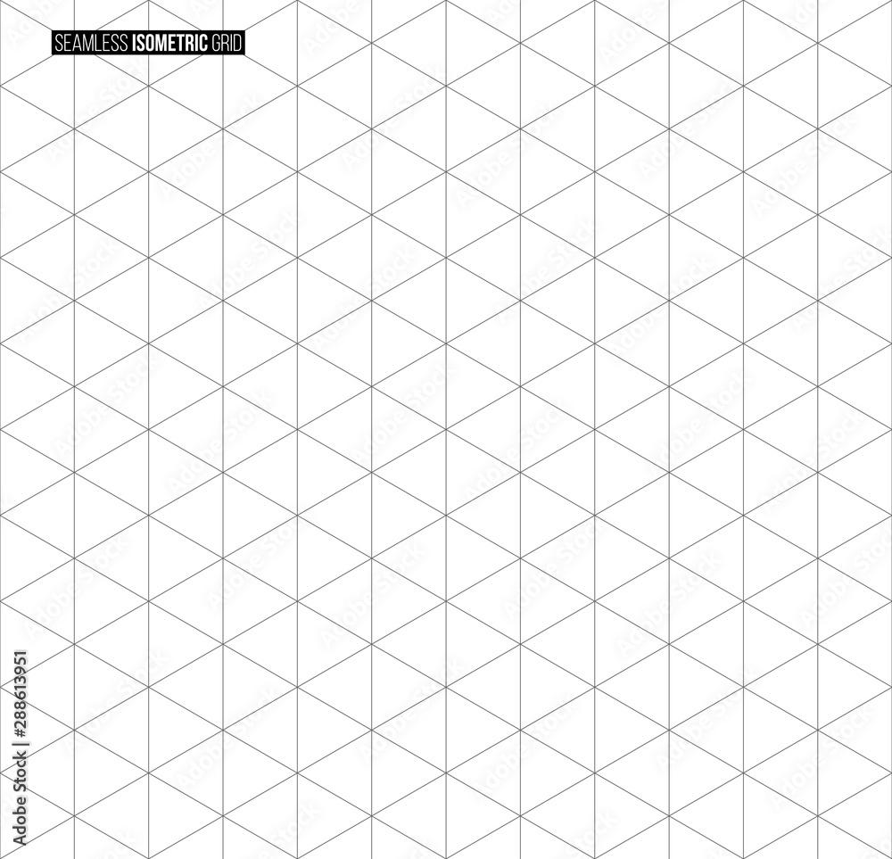 Fototapeta Abstract isometric grid vector seamless pattern