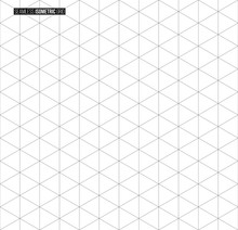 Abstract Isometric Grid Vector...