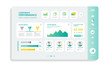 Company performance info graphics for web design templates