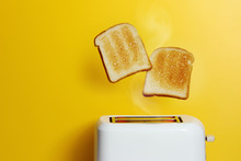 Slices Of Toast Jumping Out Of...