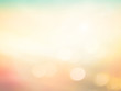 canvas print picture - Summer holiday concept: Abstract bokeh flare sunlight with blur green and yellow nature sunrise beach background