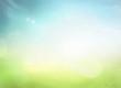 Leinwanddruck Bild - World environment day concept: Abstract blurred nature background