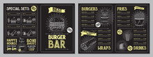 Burger Bar Menu Template - A4 ...
