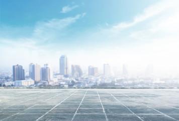 Tło koncepcji gród: widok z lotu ptaka budowanie wielkiego miasta na niesamowite złote ciepłe światło o wschodzie słońca. Bangkok, Tajlandia, Azja