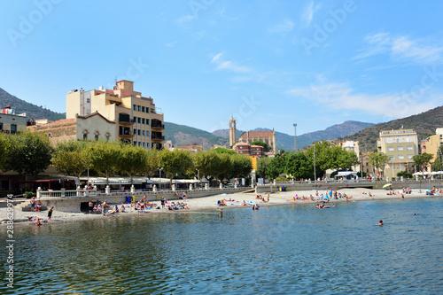village of Portbou, Girona province, Catalonia, Spain