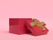 Red Gold Gift Box Christmas Ho...