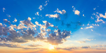 Real Sunrise Sundown Sky With ...