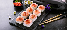 Delicious Roll With Masago Cav...
