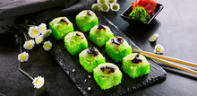 Baked Roll With Tobiko Caviar,...