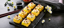 Hot Roll In Tempura With Baked...
