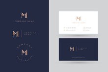M Logo Business Card