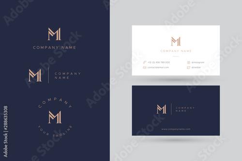 Fotomural  M logo business card
