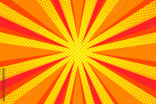 Photo  Colorful Pop art comic book Cartoon Sunlight Background Retro Halftone colored b